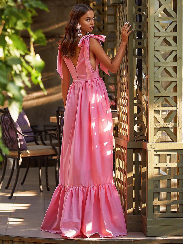 SHERIE PINK MAXI DRESS