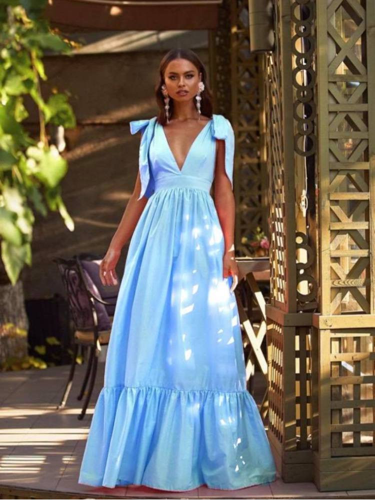 SHERIE SKY BLUE MAXI DRESS