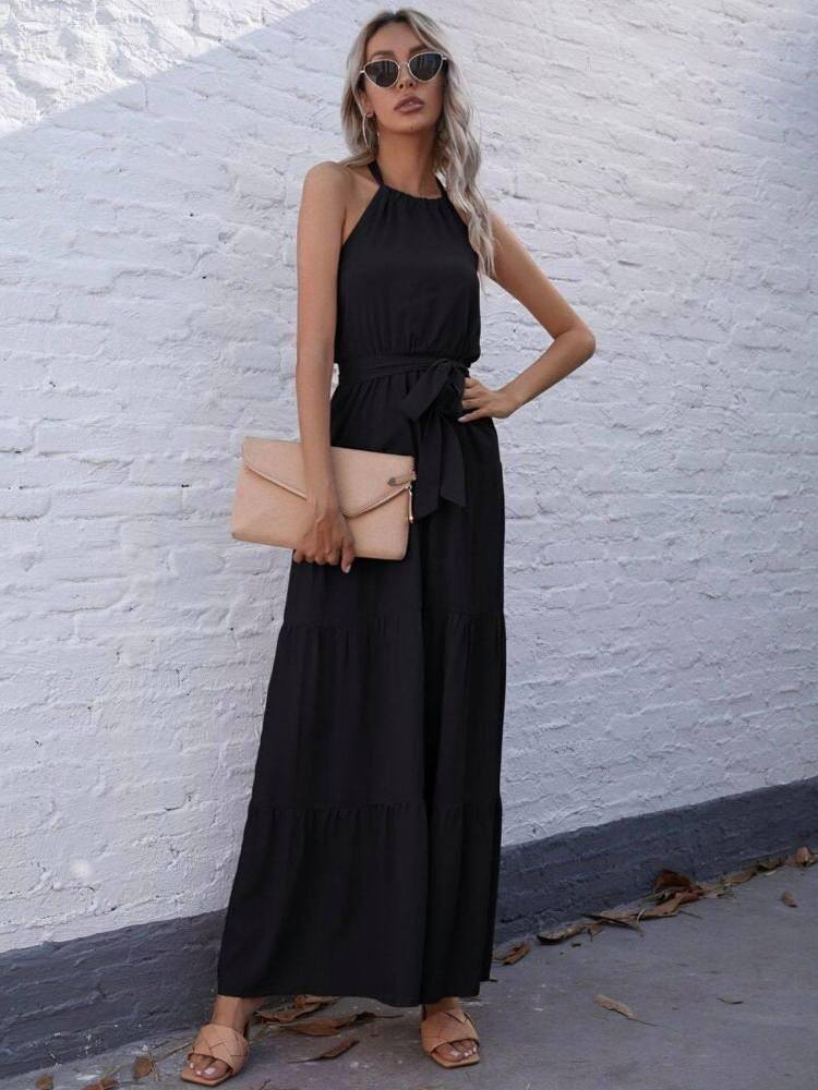 MENDEZ BLACK MAXI DRESS