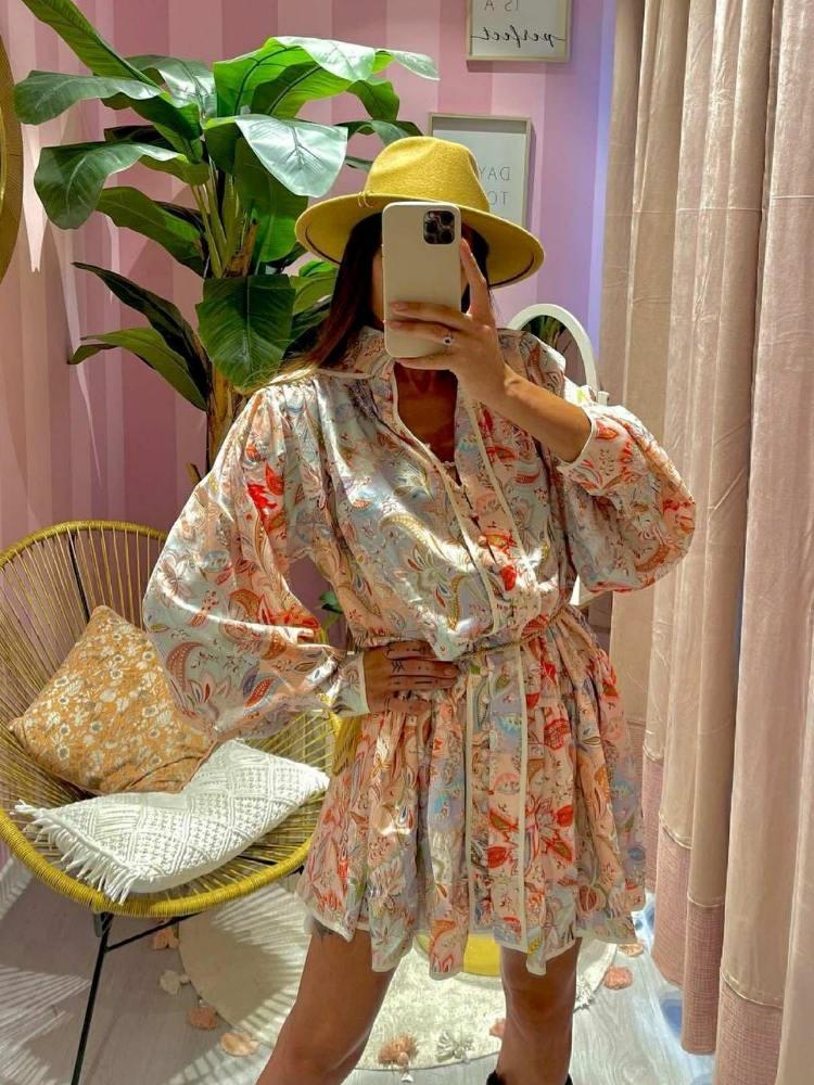 MORELA SATIN DRESS