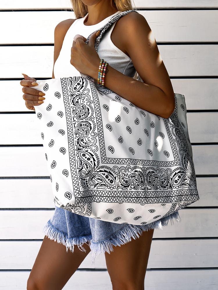 KARMA WHITE SHOULDER BAG