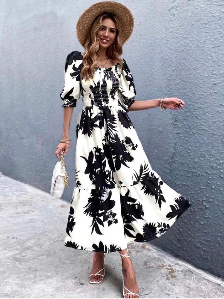 BLAIR BLACK & WHITE DRESS