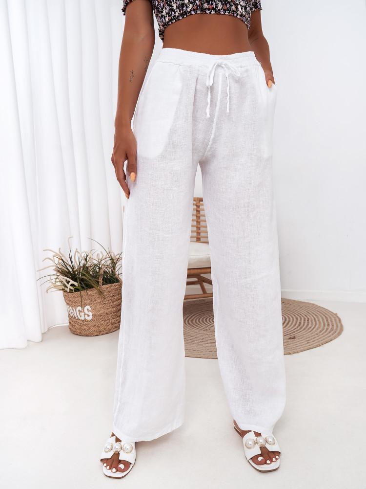 KEZZY WHITE LINEN PANTS
