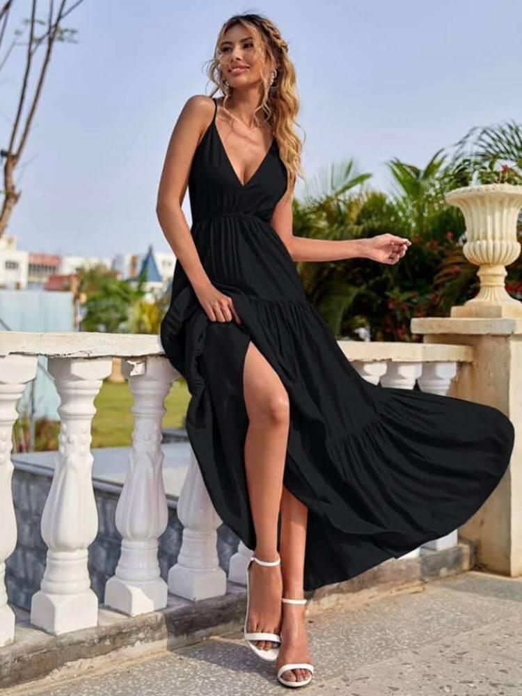 ROSALIND BLACK MAXI DRESS