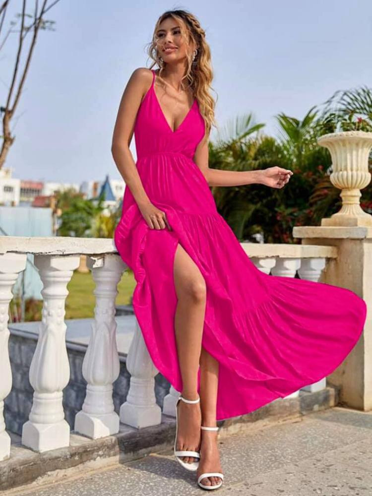 ROSALIND FUCHSIA MAXI DRESS