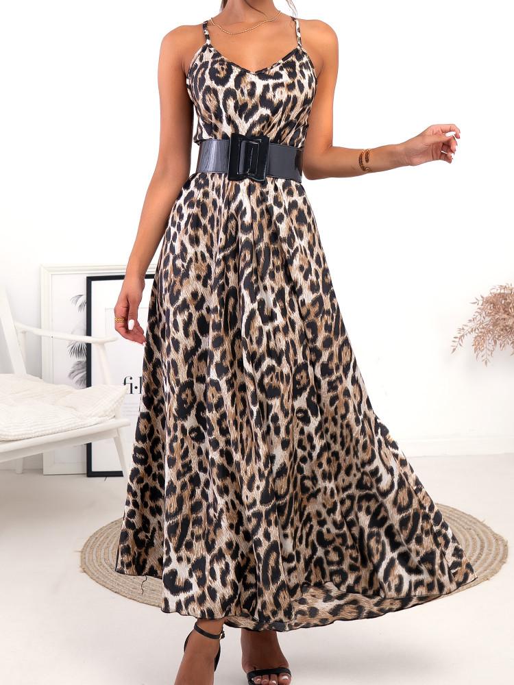 SHAKA LEOPARD MAXI DRESS