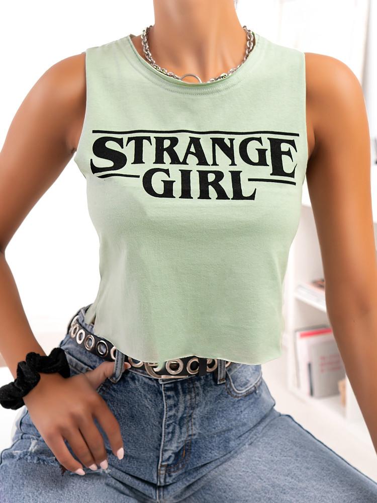 STRANGE GIRL MINT TANK TOP