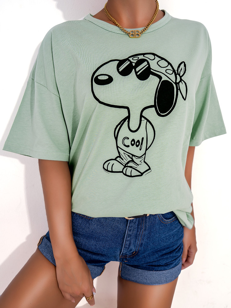 COOL SNOOPY MINT OVERSIZED...