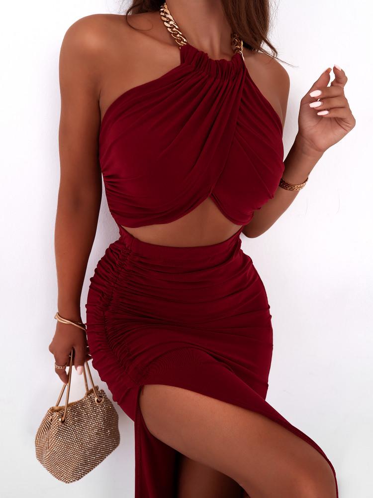 IZZY WINE DRESS