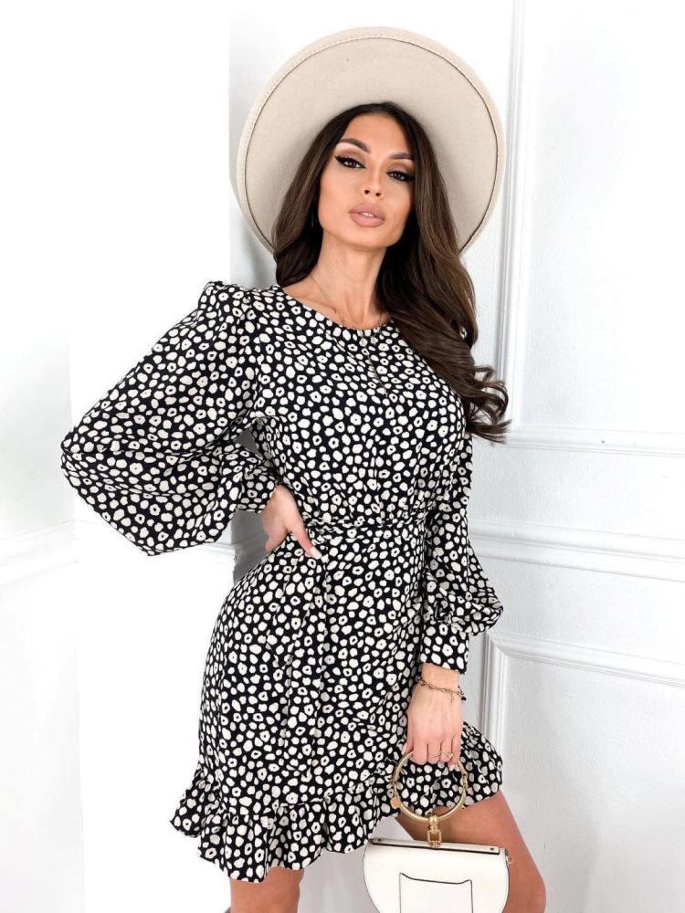 LIRIA BLACK FLORAL DRESS