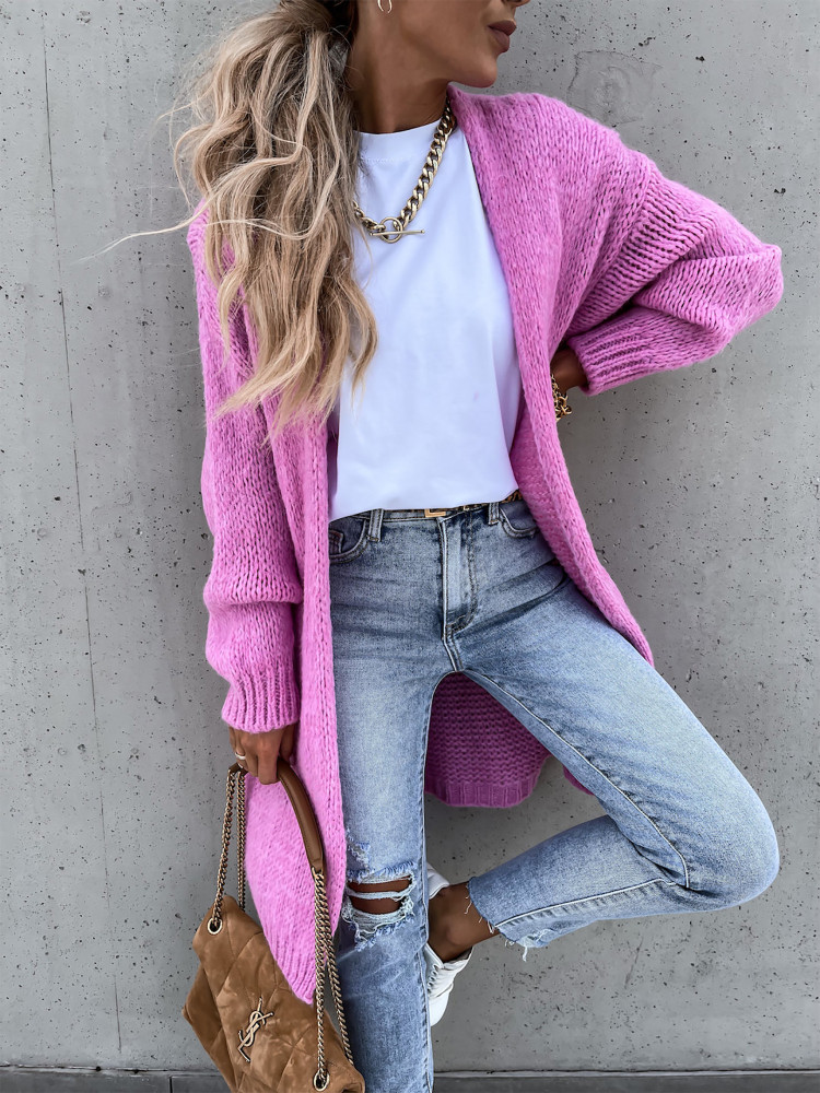 SERZY PINK KNITTED CARDIGAN