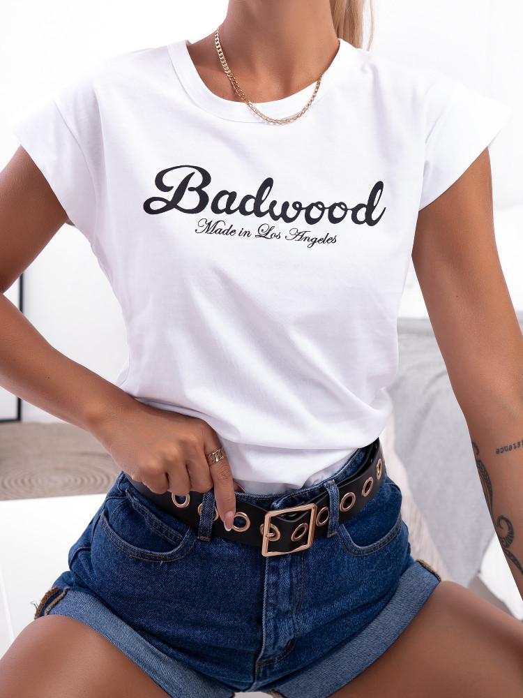 BADWOOD WHITE TSHIRT
