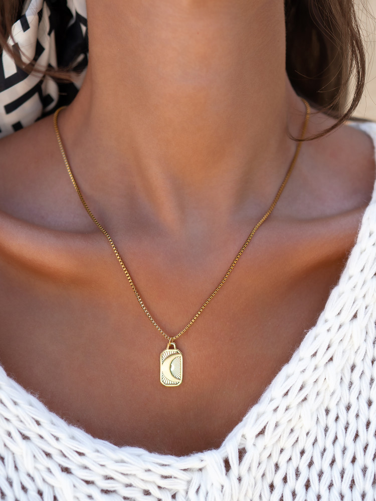 LEAH GOLD STEEL NECKLACE
