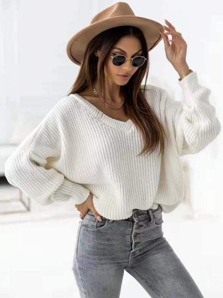 ROUBI WHITE KNITTED BLOUSE