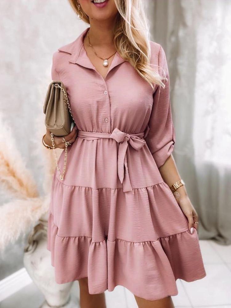 ADRIA DUSTY ROSE DRESS