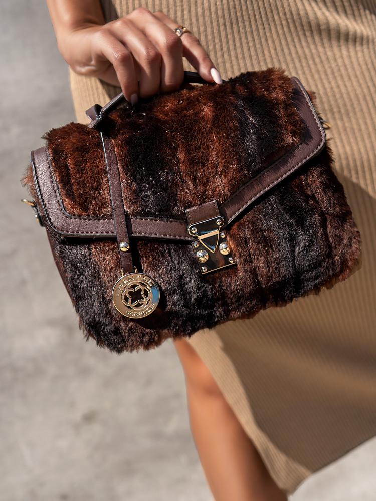 TENDRE BROWN SHOULDER BAG