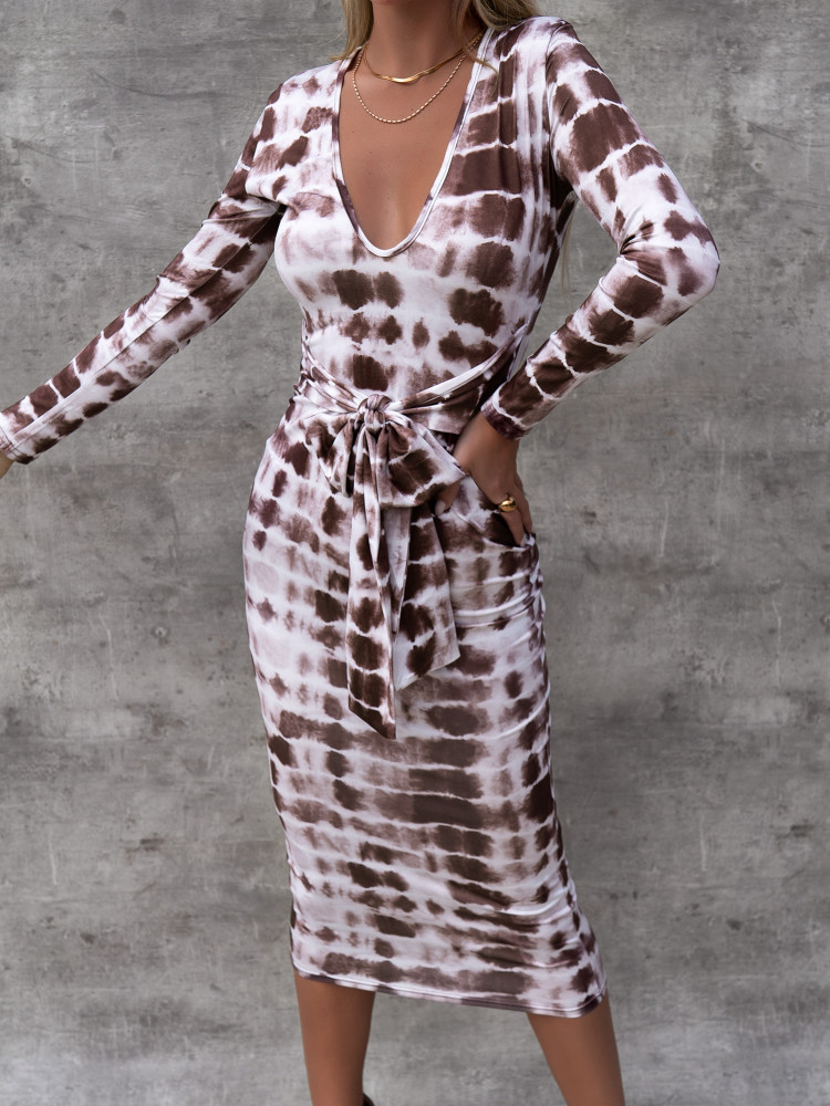 GRENOBLE BROWN DRESS