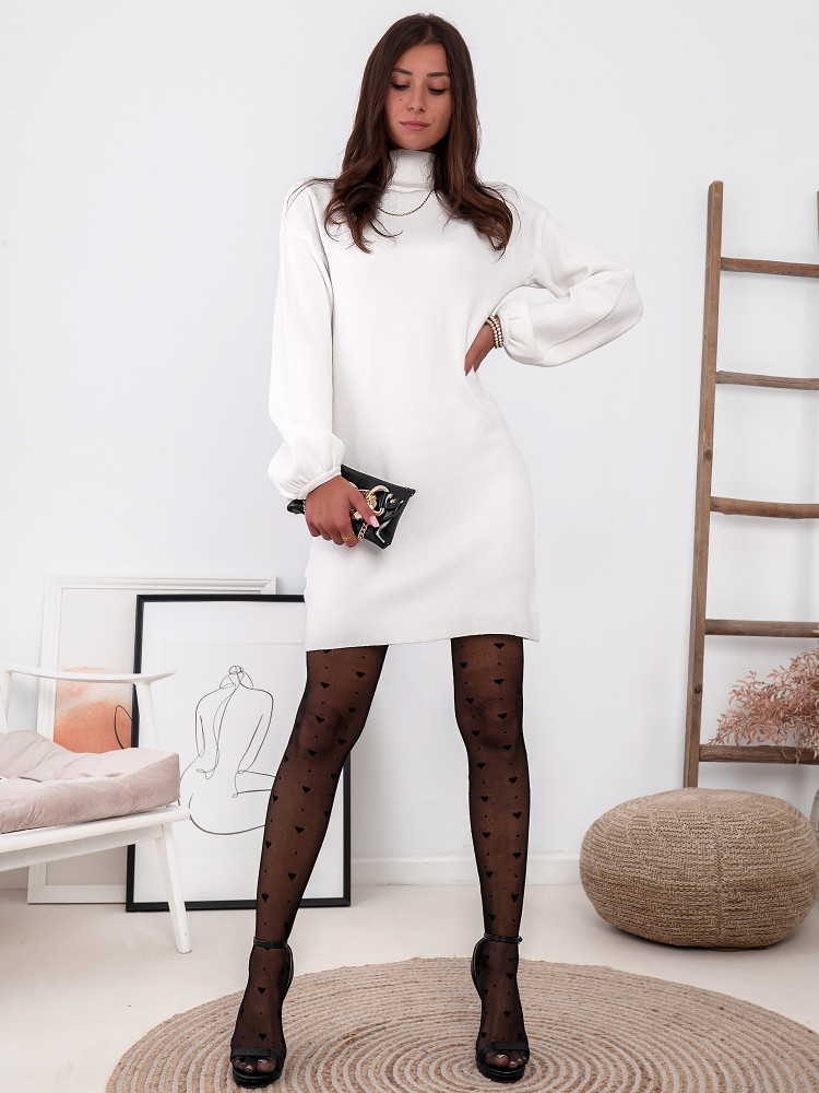 MIMI WHITE KNITTED DRESS
