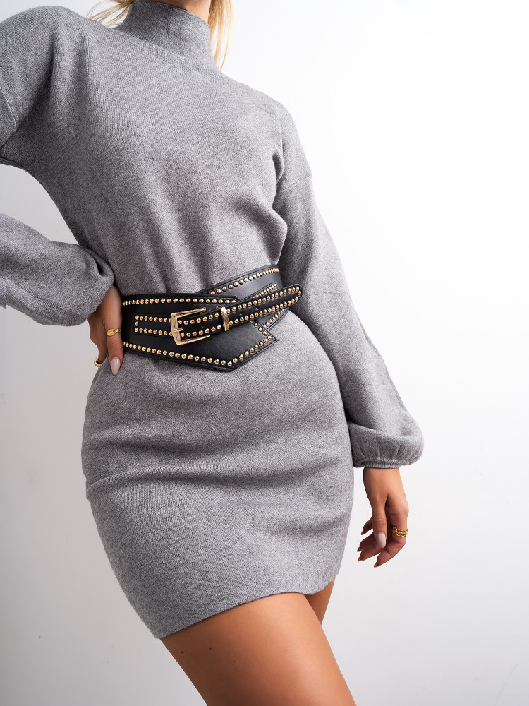 MIMI GREY KNITTED DRESS