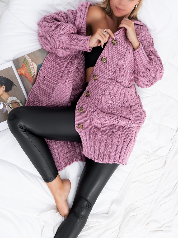 PEREZ DUSTY PINK KNITTED...