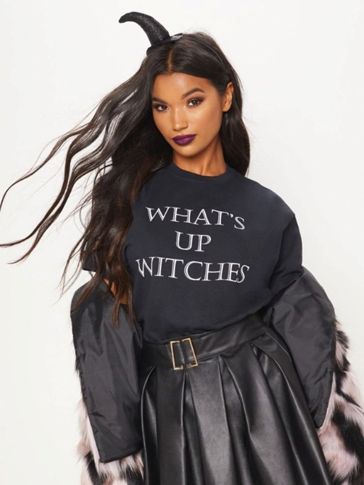 WHAT'S UP WITCHES BLACK TSHIRT