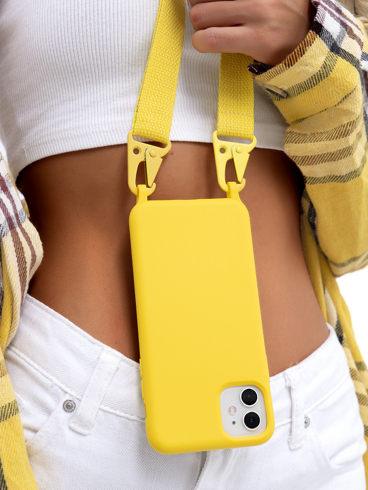 STRAP YELLOW IPHONE CASE