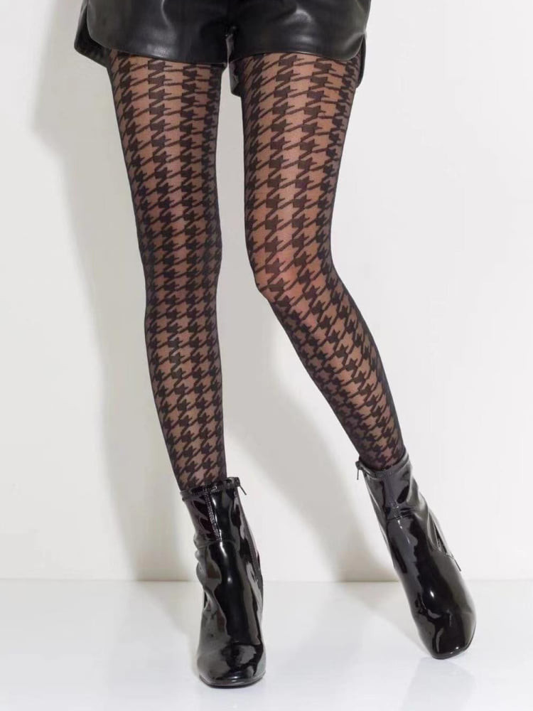 CHECKED STAR TIGHTS